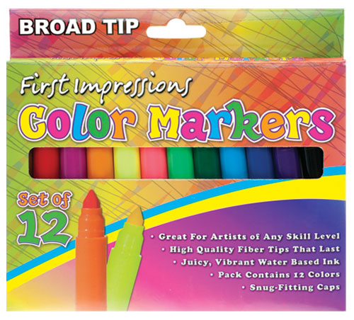 First Impressions Color Art Markers For Kids
