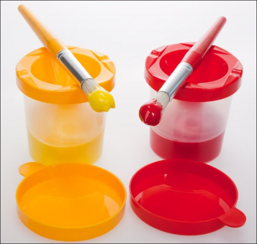 First Impressions Elementary Brushes And Painting Pots