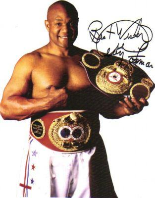 George Foreman Two-Time World Heavyweight Boxing Champion