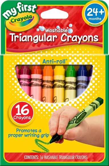 My First Crayola Washable Triagular Crayons 16ct
