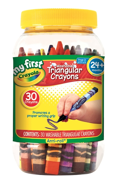 My First Crayola Washable Triangular Crayons 30 ct.