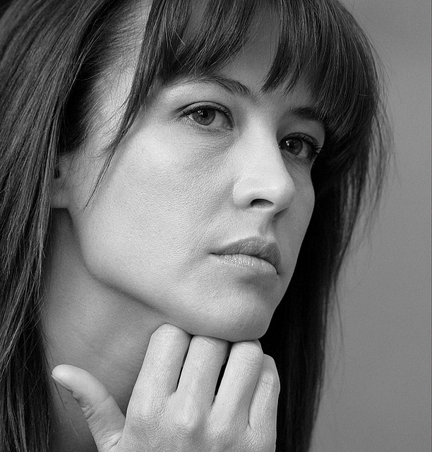 Beautiful Slim Face Woman Sophie Marceau