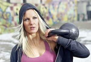 Beginner Kettlebell Workout - Kettlebell Fitness Woman