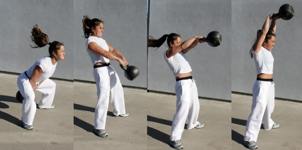 Kettlebell Cardio Workouts - Kettlebell Swing Fitness Woman