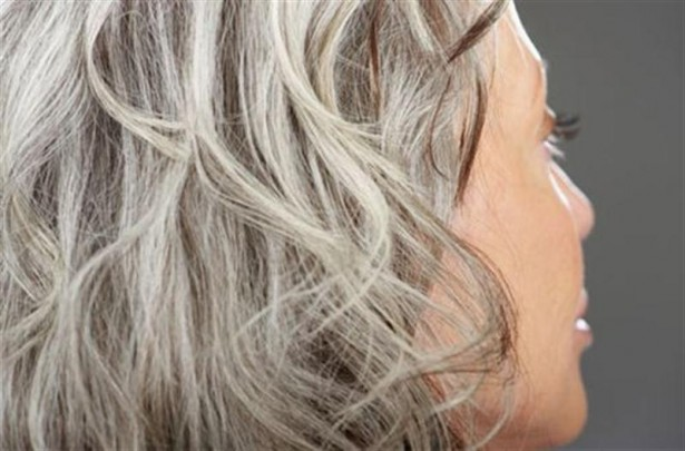 How To Stop Gray Hair From Growing - Graying Hair Woman